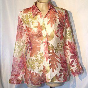3for15$ button down shirt sheer mesh and linen